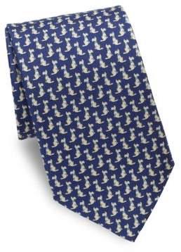 Salvatore Ferragamo Scotty Dog Silk Tie