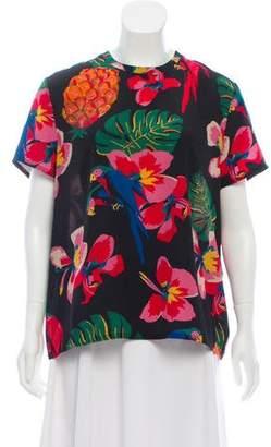 Valentino Silk Tropical Dream Top