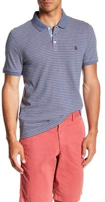 Original Penguin Short Sleeve Denim Slub Stripe Print Polo