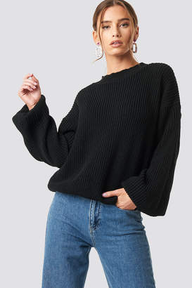 Glamorous Balloon Arm Knitted Sweater Black