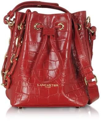 Croco Lancaster Paris Exotic Mini Bucket Bag