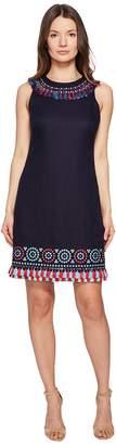 Kate Spade Full Plume Embroidered Tassel Dress Women's Dress