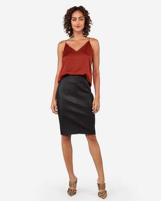Express Minus The) Leather Seamed Pencil Skirt