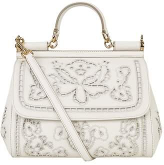 Dolce & Gabbana Medium Cut-Out Sicily Top Handle Bag