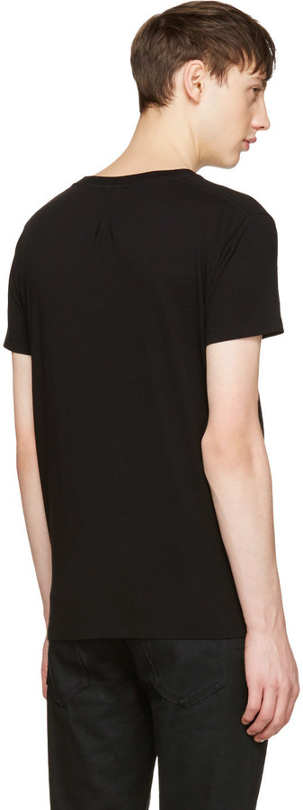Saint Laurent Black Sweet Dreams Shark T-Shirt 3