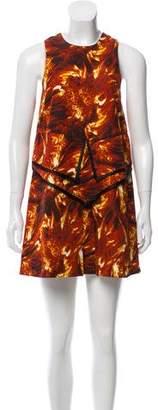 Wayne Silk Abstract Dress