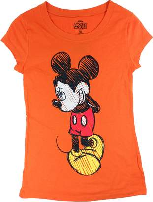 Disney Womens Shy Mickey Autumn Colored T Shirt
