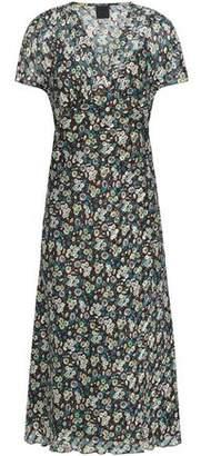 Anna Sui Floral-Print Silk-Gauze Midi Dress