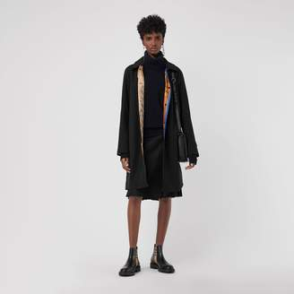 Burberry Archive Print-lined Tropical Gabardine Car Coat