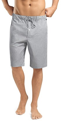 Hanro Check Cotton Lounge Shorts $87 thestylecure.com