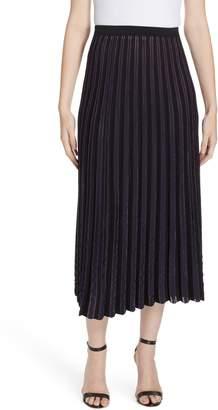 Diane von Furstenberg Klara Pleat Midi Skirt