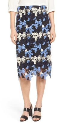 Women's Emerson Rose Multicolor Lace Skirt $99 thestylecure.com