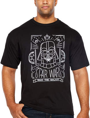 Star Wars Starwars Travel Wars Short Sleeve Graphic T-Shirt-Big and Tall