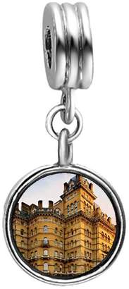 +Hotel by K-bros&Co GiftJewelryShop The Langham hotel London Photo Purple Amethyst Crystal February Birthstone Flower Dangle Charm Bracelets