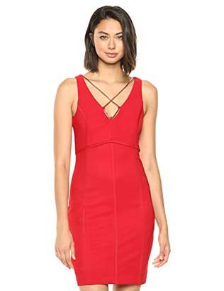 GUESS Women's Crisscross-Chain Bodycon Dress