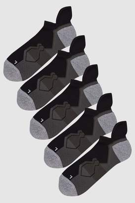 Next Mens Black Performance Trainer Socks Five Pack