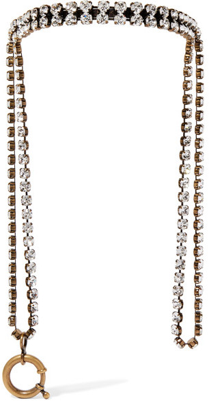 Balenciaga  Balenciaga - Gold-tone Crystal Necklace - Metallic