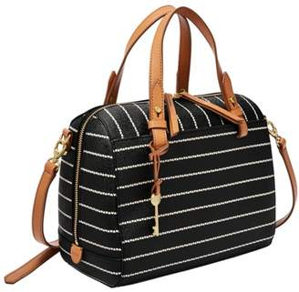 Fossil Rachel Satchel Handbags Black/White