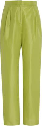 Mansur Gavriel Cotton And Silk-Blend Taffeta Tapered Pants