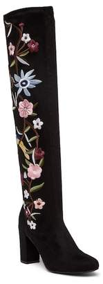Mia Serena Floral Embroidered Over-the-Knee Boot