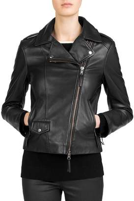 Gerard Darel Susan Leather Moto Jacket