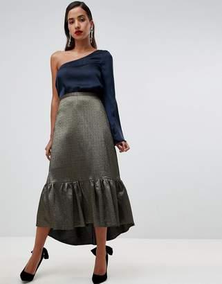 Closet London frill high low skirt