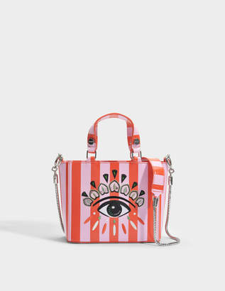 Kenzo Icon Top Handle Bag in Red Split Leather