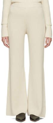 Joseph Ecru Cashmere Lounge Pants