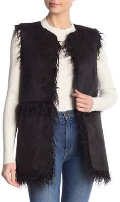 Cupcakes And Cashmere Faux Suede & Faux Fur Alycia Vest