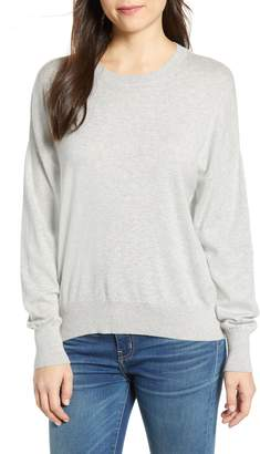 Velvet by Graham & Spencer Crewneck Cotton & Cashmere Sweater