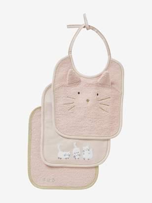 Vertbaudet Set of 3 Bibs for Babies, Embroidered Animals