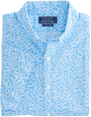 Vineyard Vines Short-Sleeve Horseshoe Printed Slim Murray Shirt
