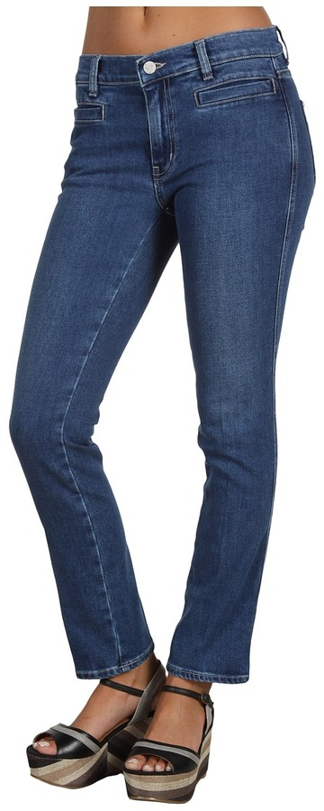 MiH Jeans  Paris Mid-Rise Cropped Slim Leg in Sweet Indigo