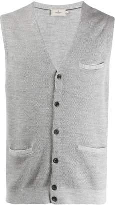 Hackett sleeveless knit cardigan