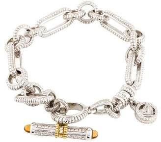 Judith Ripka Diamond & Citrine Toggle Bracelet