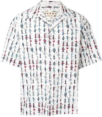 Marni fishhook print shirt