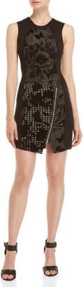 Desigual Printed Panel Sheath Dress