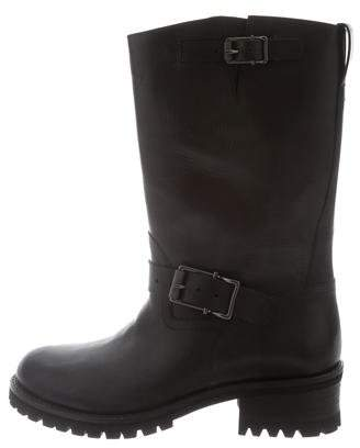 Belstaff Round-Toe Leather Boots