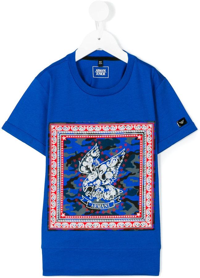 Armani JuniorArmani Junior eagle print T-shirt
