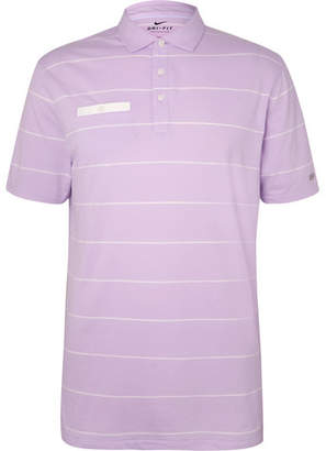 Nike Player Striped Dri-Fit Golf Polo Shirt