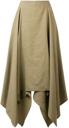Salvatore Ferragamo asymmetric midi skirt
