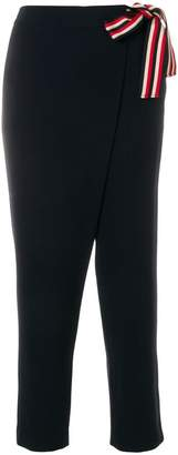 Alberto Biani high waist cropped trousers