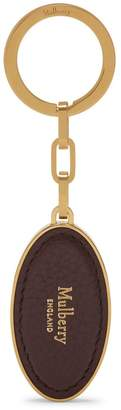 Mulberry Leather Patch Keyring Oxblood Oxblood Small Classic Grain