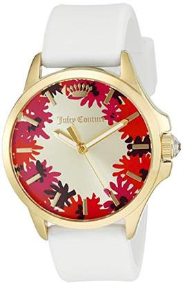 Juicy Couture Women's 1901387 Jetsetter Analog Display Japanese Quartz White Watch $145 thestylecure.com