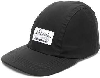 Off-White patch detail baseball cap