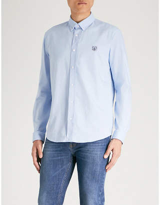 Kenzo Logo-embroidered casual-fit cotton shirt