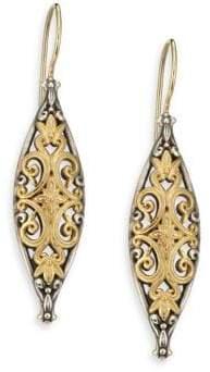 Konstantino Hebe 18K Yellow Gold& Sterling Silver Drop Earrings