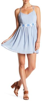 En Creme Strappy Lace Trim Dress $45 thestylecure.com