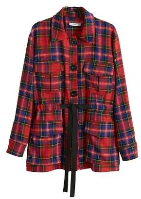 MANGO Checkered pocket jacket