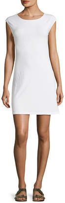 James Perse Off-The-Shoulder Cap Sleeve Flared Dress